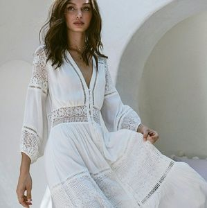 Spell Olivia Luxe Lace Midi Dress